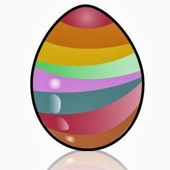 Huevo De Pascua Decorado Con Líneas Horizontales