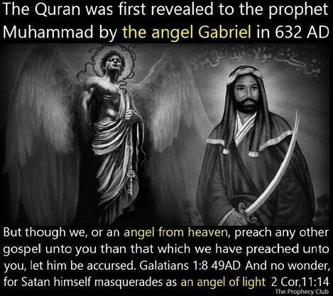 Trust me Allah is satan not the God of the Bible...the Angel was Satan....as he can be whomever he wants.