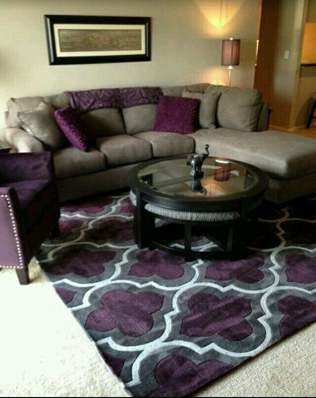 Best Purple Tan Family Room Purple Living Room Cute Living 400 x 300