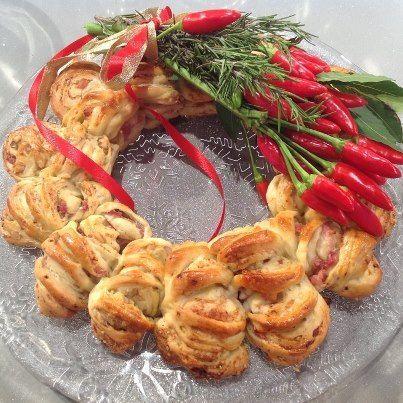 Ghirlanda pancetta e noci [P]