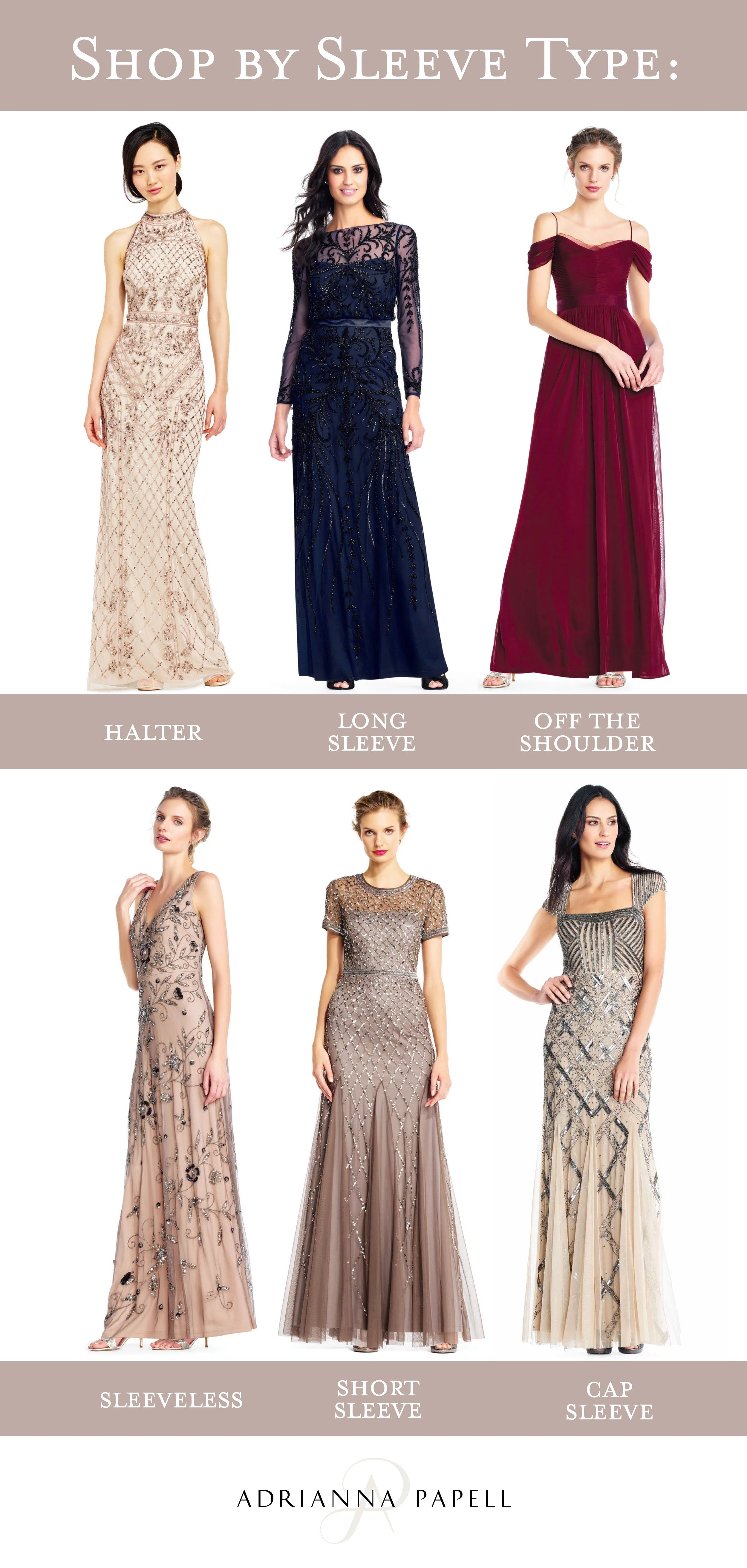 Shop your favorite dresses by sleeve type. | Glamorous Gowns ...
