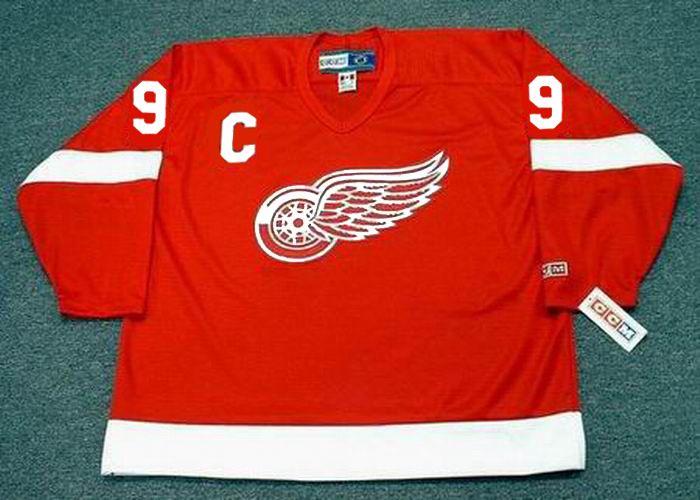 GORDIE HOWE Detroit Red Wings 1962 CCM Throwback Home NHL Hockey ... 5201e4169