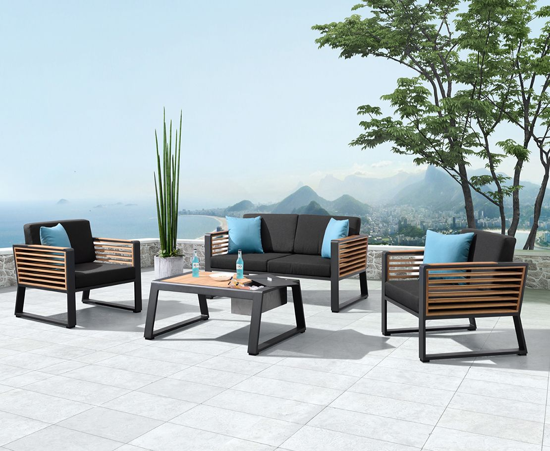 Caribbean 4pc Outdoor Lounge Setting W Loveseat Outdoor Furniture Outdoor Lounge Set Outdoor Dining Furniture