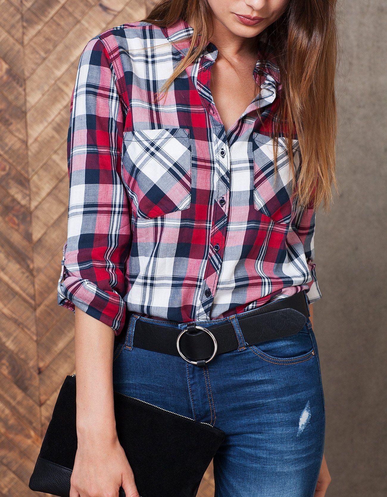 M s de 25 ideas incre bles sobre camisas cuadros mujer for Combinar camisa vaquera negra hombre