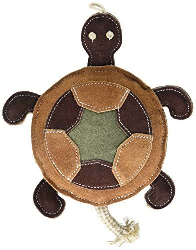 Native Dog Trendy Turtle Leather Dog Toy Read More At The