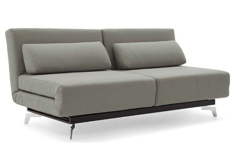 Apollo Grey Modern Futon Sofabed Sleeper Makes 2 S Chairs Or Single Size Bed A King On Now The Couch E Saving And