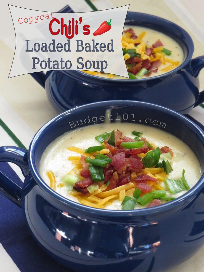 Chilis Loaded Baked Potato Soup  Copycat Recipesbaked