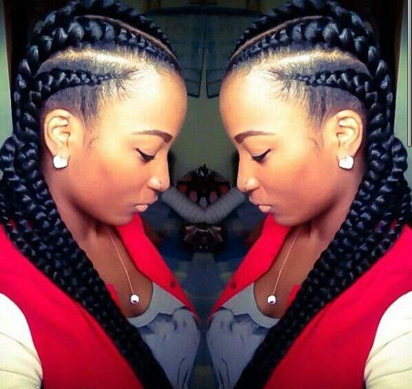 Astounding Jumbo Cornrows I Love Big Breads Hair Beauty That I Love Short Hairstyles For Black Women Fulllsitofus