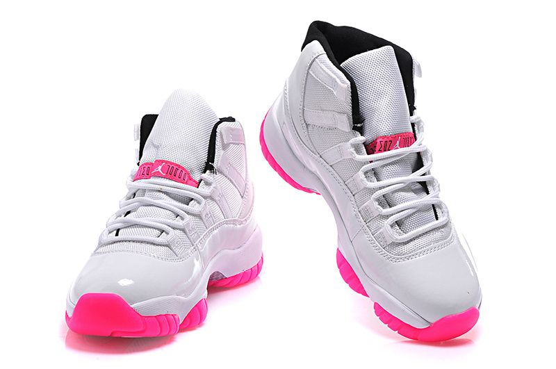 big sale 1c334 22bec 2015 Air Jordan 11 GS White Pink-1