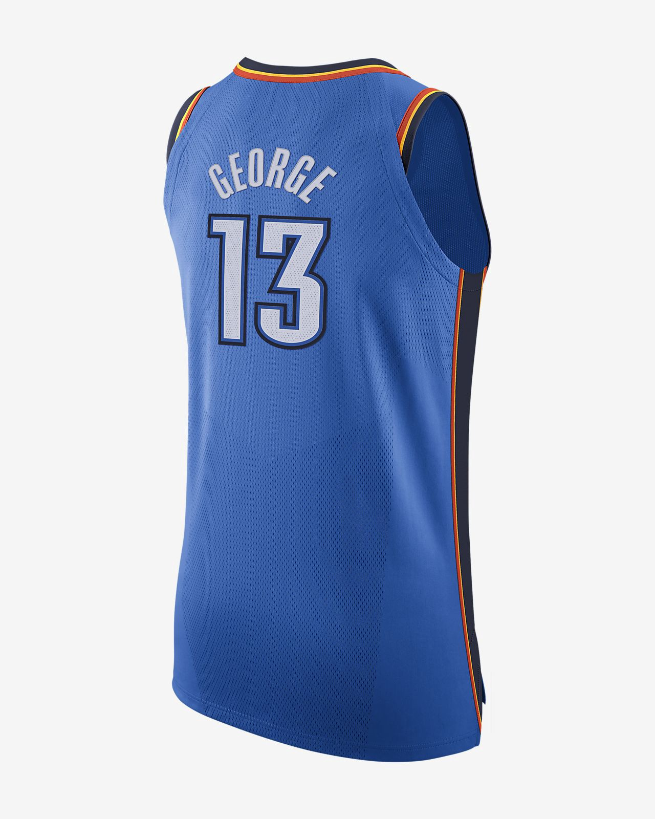 8892b474 Nike Paul George Icon Edition Authentic Jersey (Oklahoma City Thunder) Men's  Nba Connected - M (44) Blue