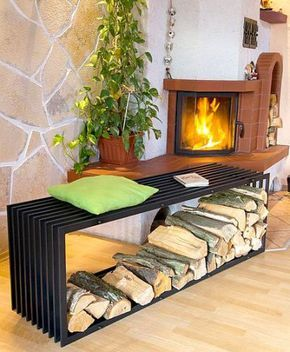 kaminholzst nder bank d stil 150cm kaminholzregal 10104 holzkorb kaminholzhalter m bel in 2019. Black Bedroom Furniture Sets. Home Design Ideas