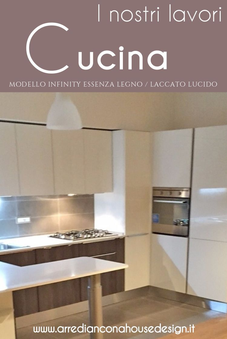 Cucina a ferro di cavallo modello infinity laccato lucido - Cucina a ferro di cavallo ...