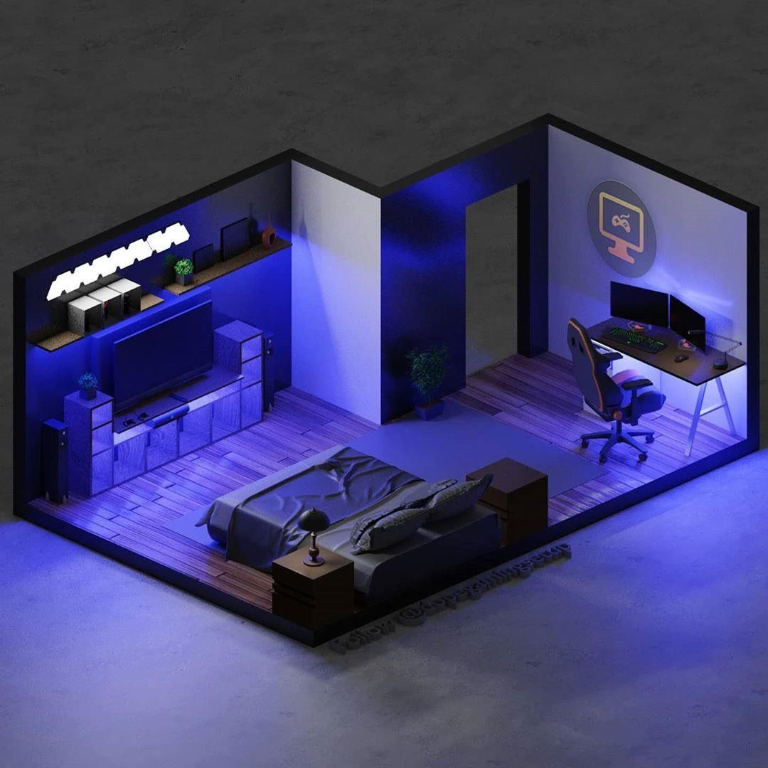 Ok, i'm 15 and i'm fianlly getting my own room! Pin by Allnn on design | Small game rooms, Bedroom setup ...