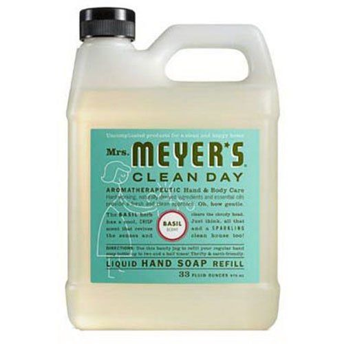 Mrs Meyers Liquid Hand Soap Refill Basil Scent 33 Oz Details