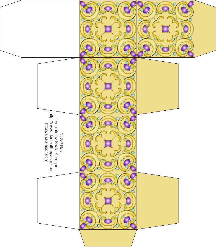 40+ Paper craft box template ideas