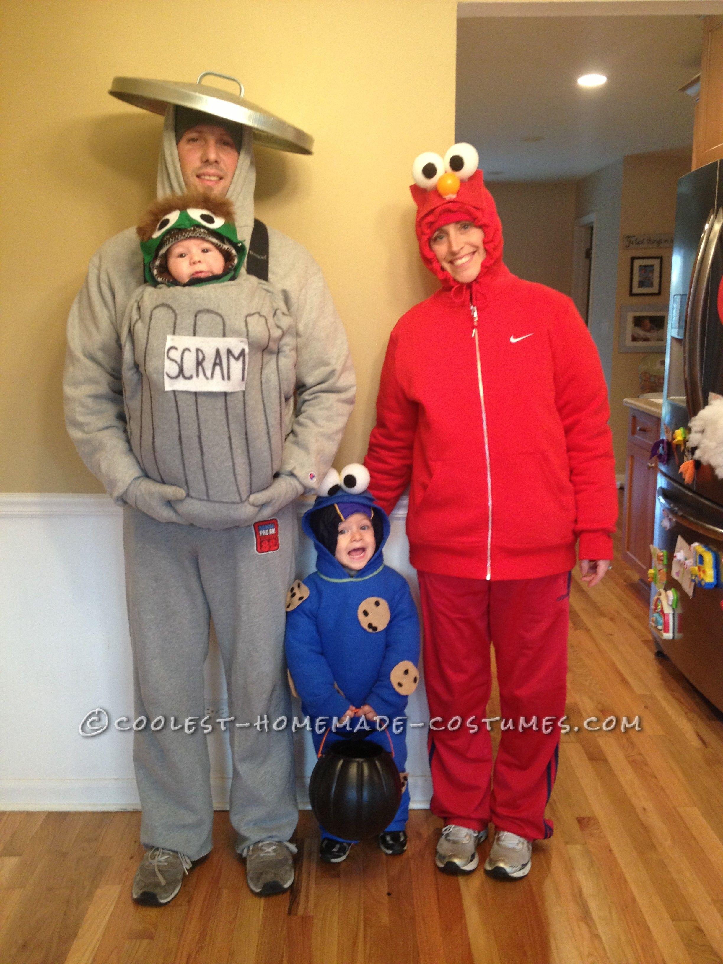 Cool Homemade Sesame Street Family Costumes Family