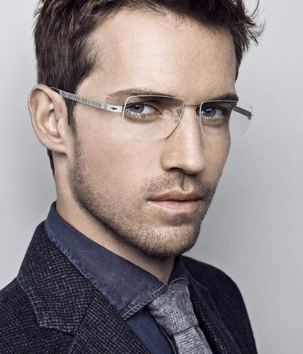 Rimless frame glasses from Lindberg. Elegant and ...