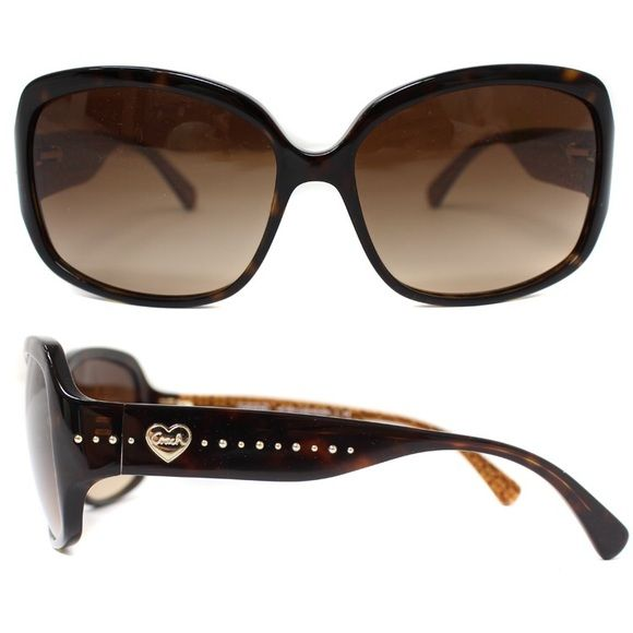 b2e1b3fbb60f Coach Gold Heart Sunglasses Authentic Coach Sunglasses. Original Case  Included. Brown/Tortoise Frame. Lightly used with a few minor scratches  Coach ...