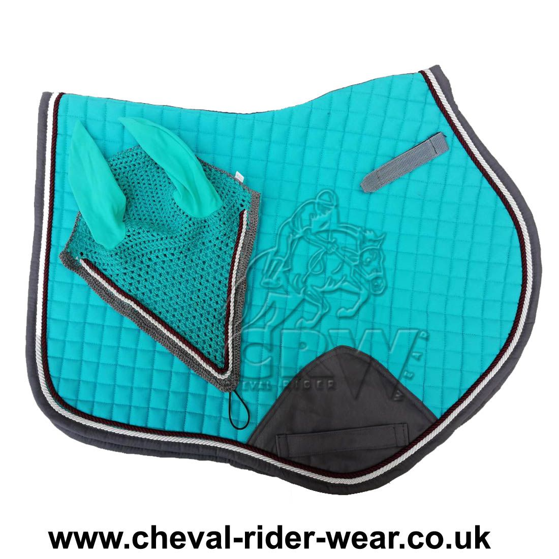 Turquoise Matching Jumping Saddle Pad Sets Colors: Black