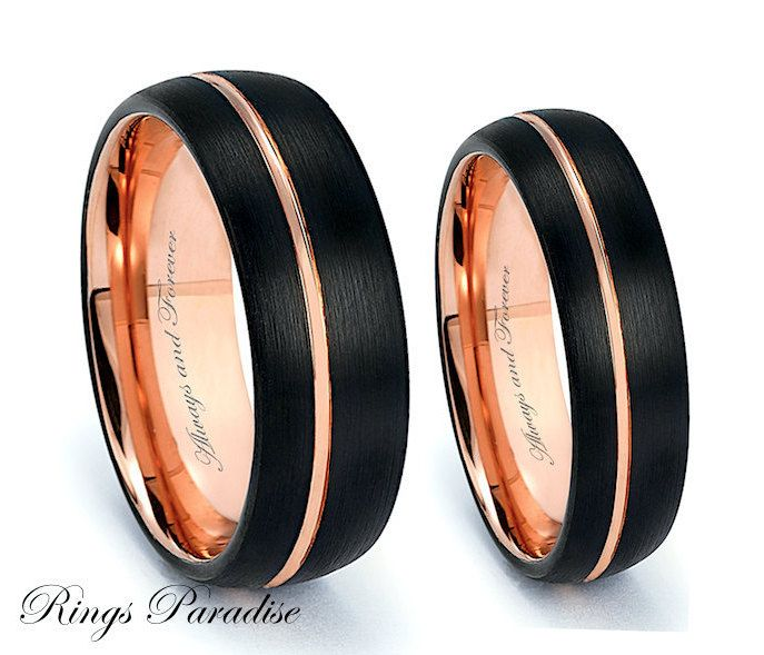 Matching Wedding Bands Couples Wedding Rings Rings Tungsten Bands His Hers Promise Wedding Rings Sets His And Hers Couple Wedding Rings Mens Wedding Rings