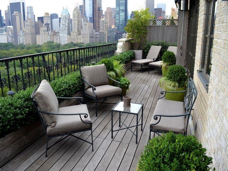 Arredare Balcone Mobili Eleganti Piante Idee Per Patio Disegno Della Terrazza Design Per Patio
