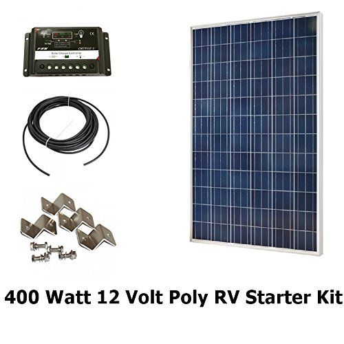 Infinium 400 Watt Solar Panel Complete Offgrid Rv Boat Kit 4 X 100 Watt 30 Amp Usb Pwm Charge Controller Solar Panels Solar Panel Kits Solar Panels For Home