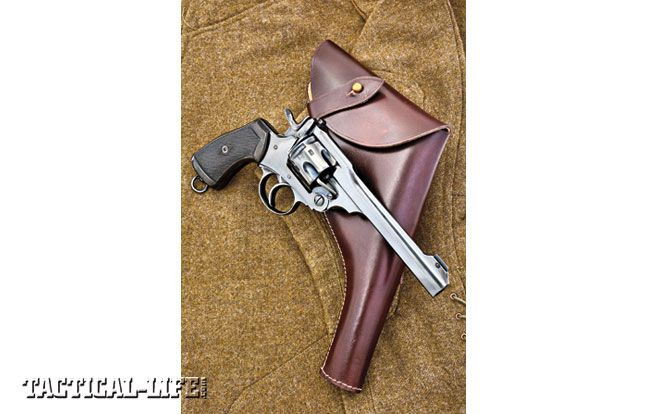 British Webbley Mk  IV double-action revolver with holster