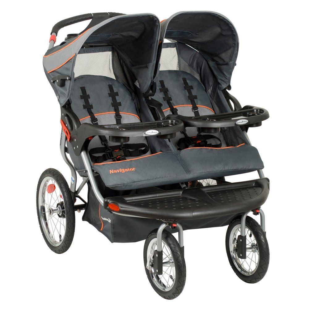 The Baby Trend Navigator Double Jogging Stroller Features A Safety Harness This Offers Your Children Multi Position Reclining Seats That Provide