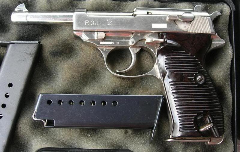WW 2 era nickel plated Walther P-38