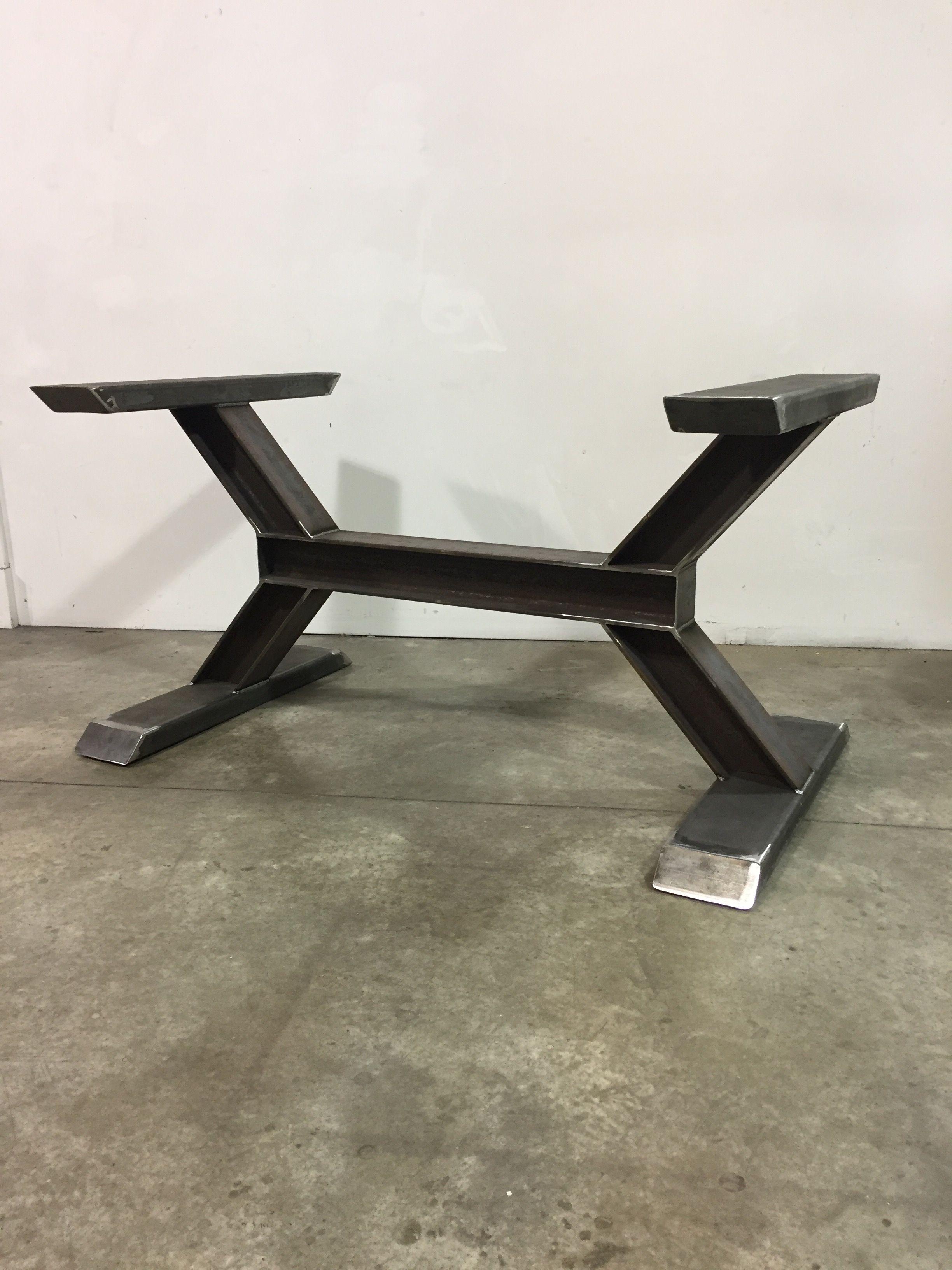 worxx i beam table base welded