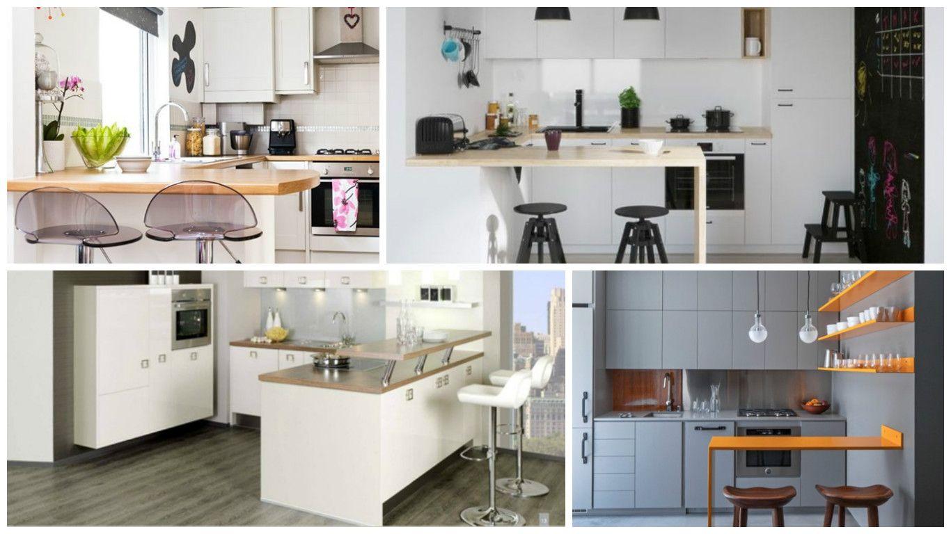 20 modelos de cocinas integrales peque as con barra for Modelos cocinas integrales pequenas
