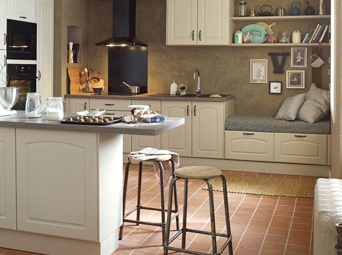 une cuisine ouverte avec banquette la nostra casa ideale pinterest petite. Black Bedroom Furniture Sets. Home Design Ideas