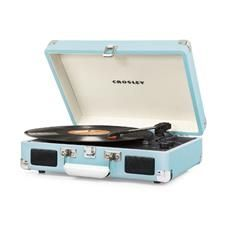 Crosley Cruiser Deluxe Portable Bluetooth Turntable - Turquoise(CR8005D-TU) - 0