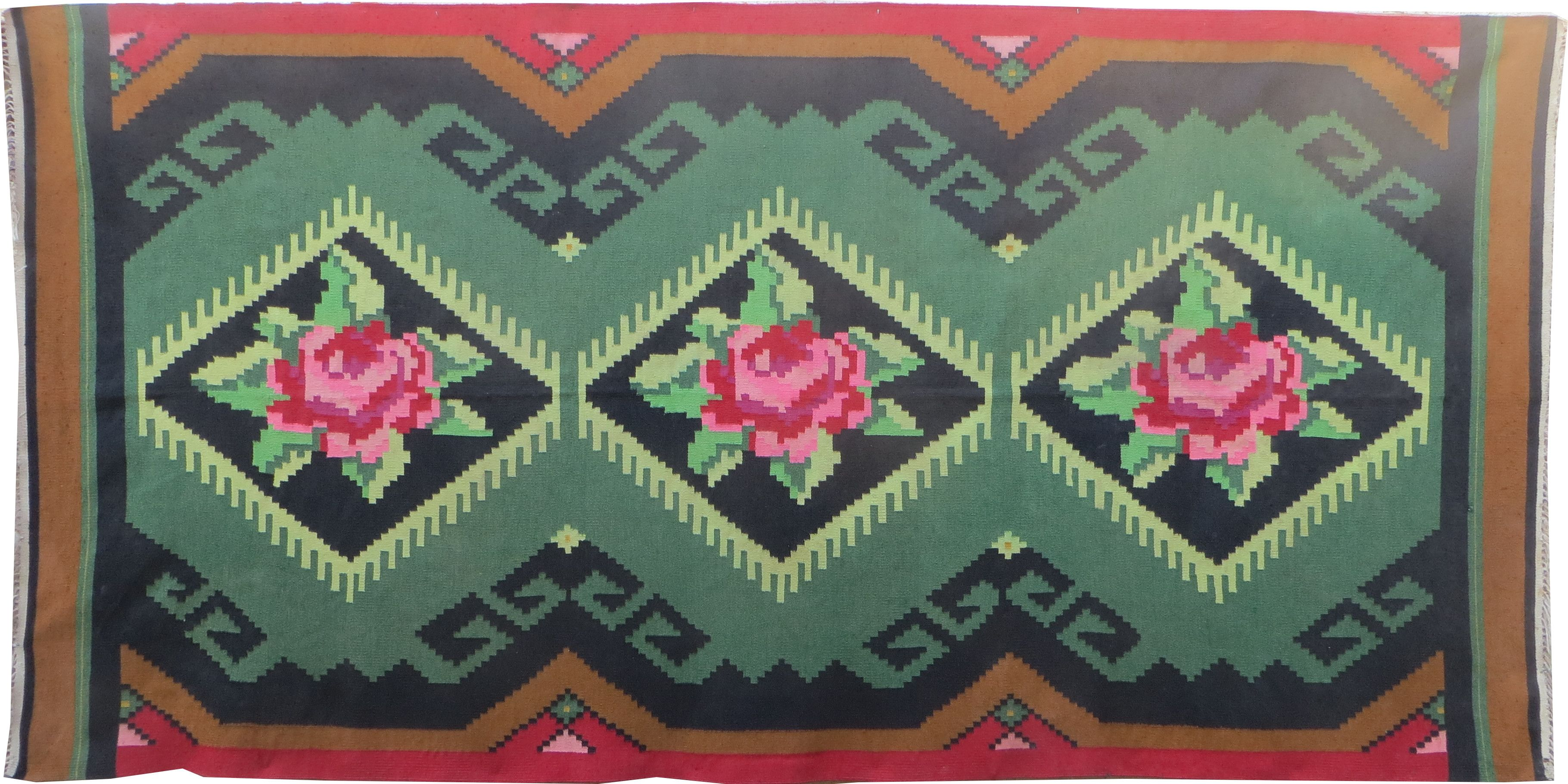 Alfombras De Salon Baratas Green Kilim Rug Wool Rug Oushak Rugs Kilim With Pink