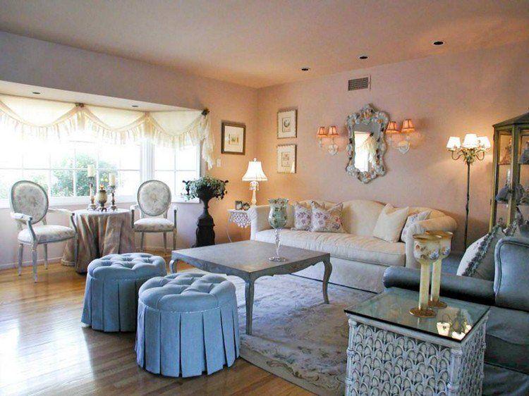 d co romantique salon en 10 id es au style shabby et plus encore salle manger shabby chic. Black Bedroom Furniture Sets. Home Design Ideas