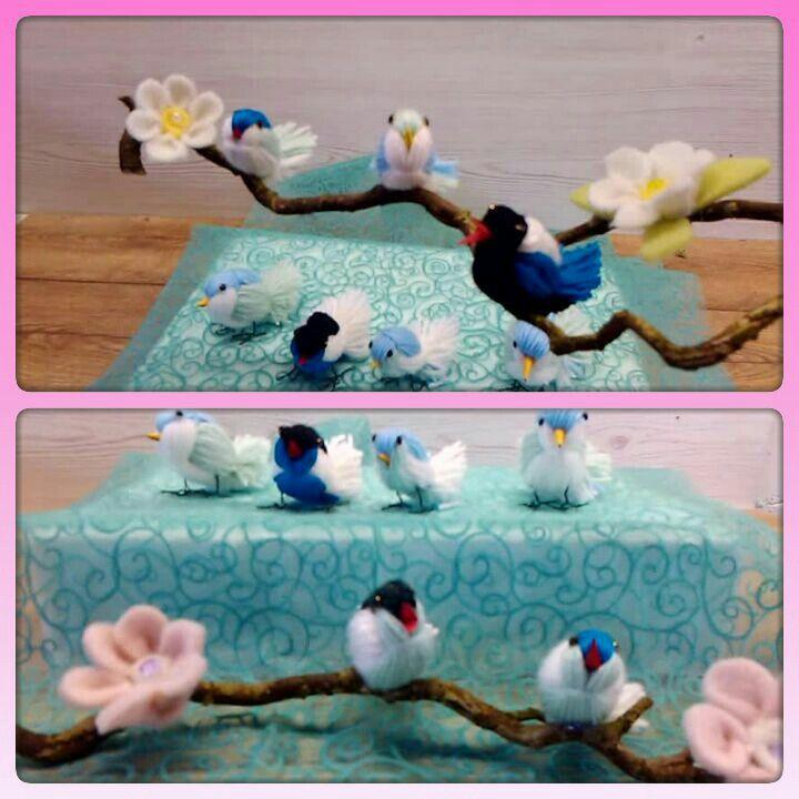 Vögel aus Wolle ( Yarn Birds )