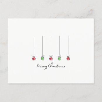 Minimalist Merry Christmas Card