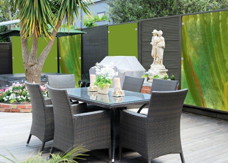 Clôtures de jardin en 59 idées captivantes   Clôtures de jardin ...