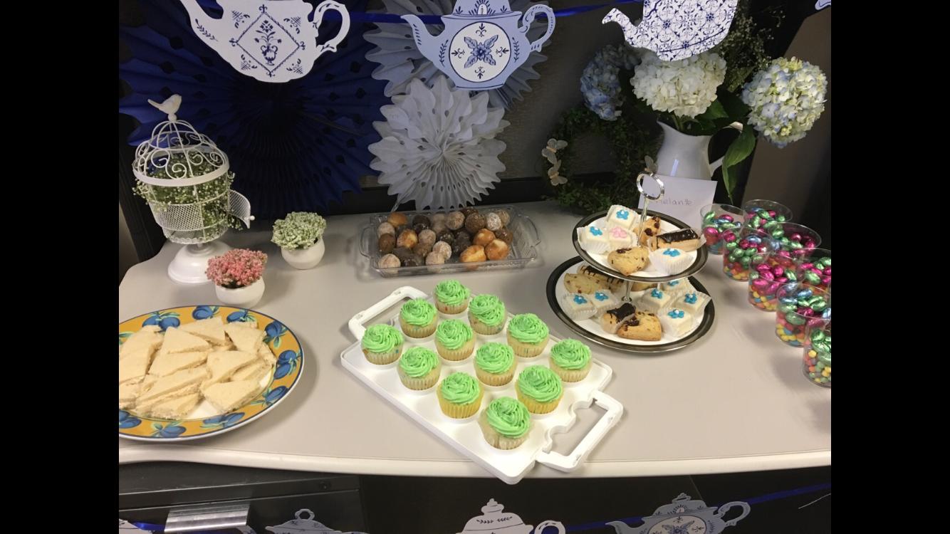 Garden Tea Party Birthday Theme Work Birthday Spring Cubicle