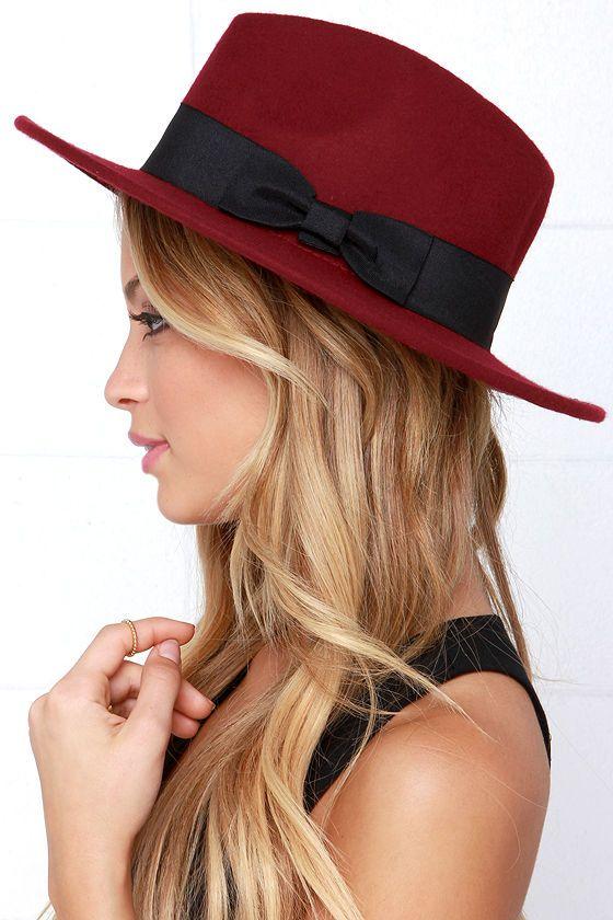 b48a0959af8 French Quarter Burgundy Fedora Hat at Lulus.com!