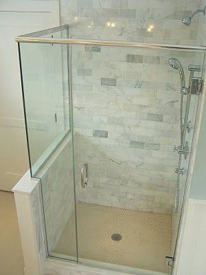shower tiles | half wall shower, shower enclosure, shower tile