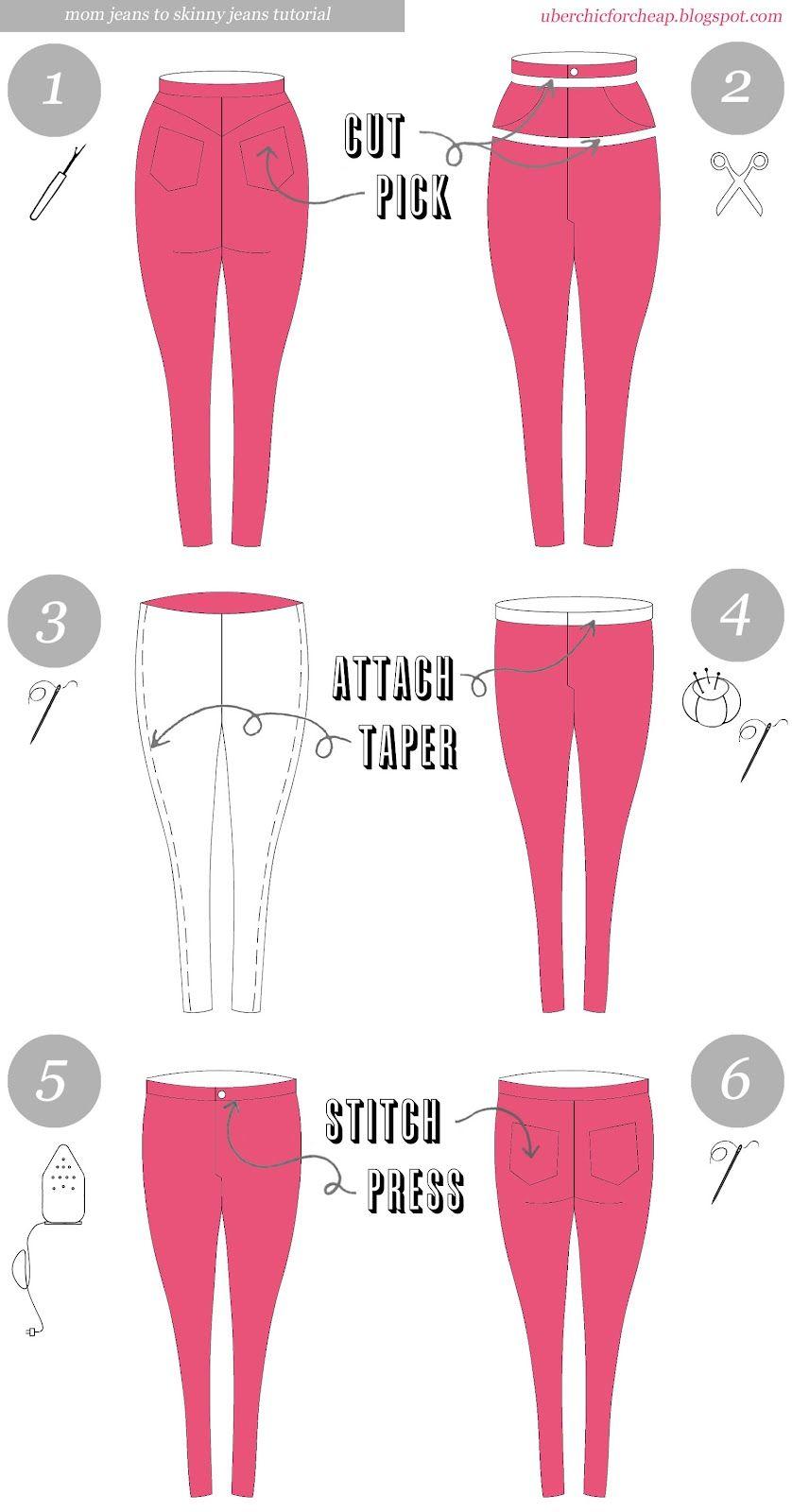 Über Chic más barato: Tutorial: Jeans Skinny Jeans a mamá | Mujer ...