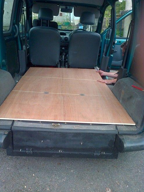 how to convert a kangoo micro van into a camper vans van camping and mini camper. Black Bedroom Furniture Sets. Home Design Ideas