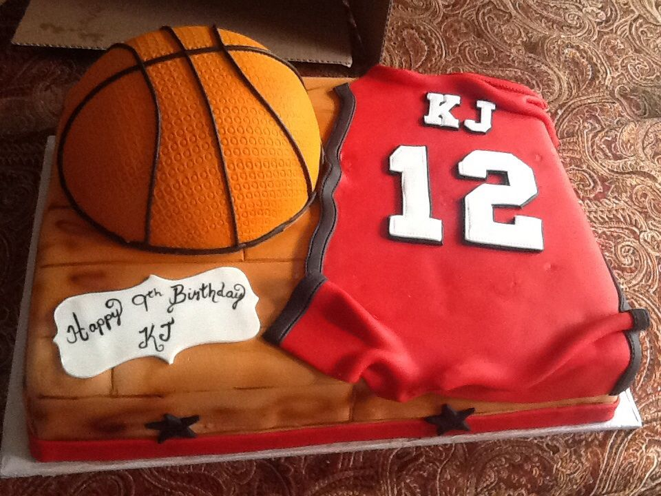 Basketball jersey cake with airbrushed court floor Cakes