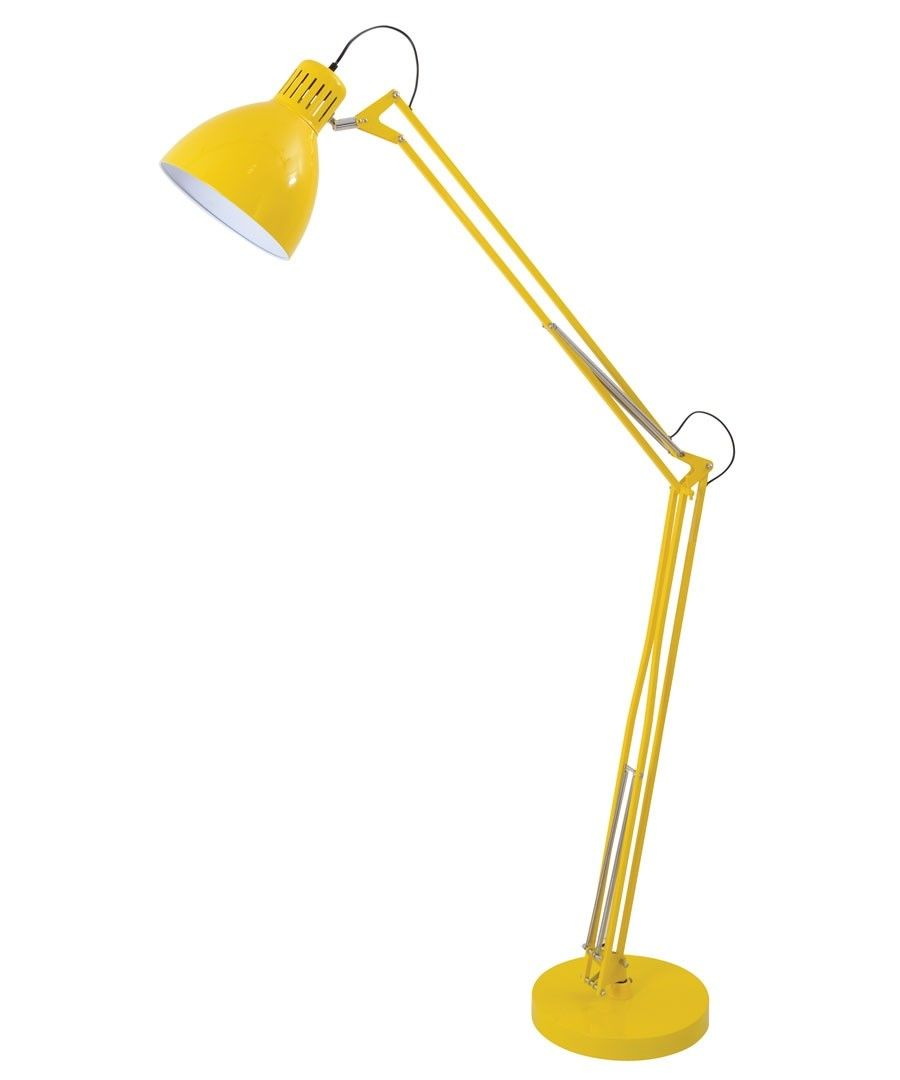 Archer 1 Light Floor Lamp in Yellow | Living room ideas | Pinterest ...