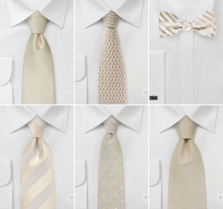 Ties for your groom and groomsmen. Neutral wedding colors ...