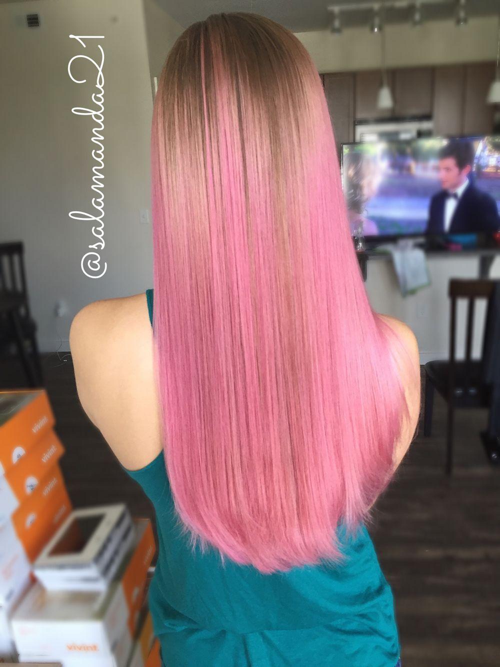 Розовая манда