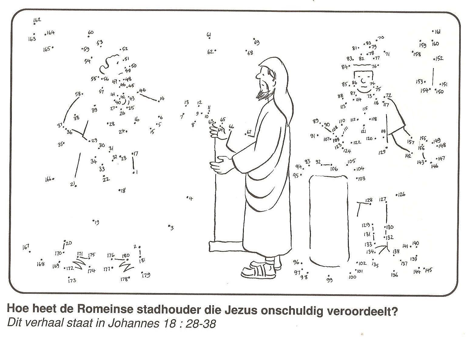 Jezus Ten Onrechte Veroordeeld Door Pilatus En Herodus Van