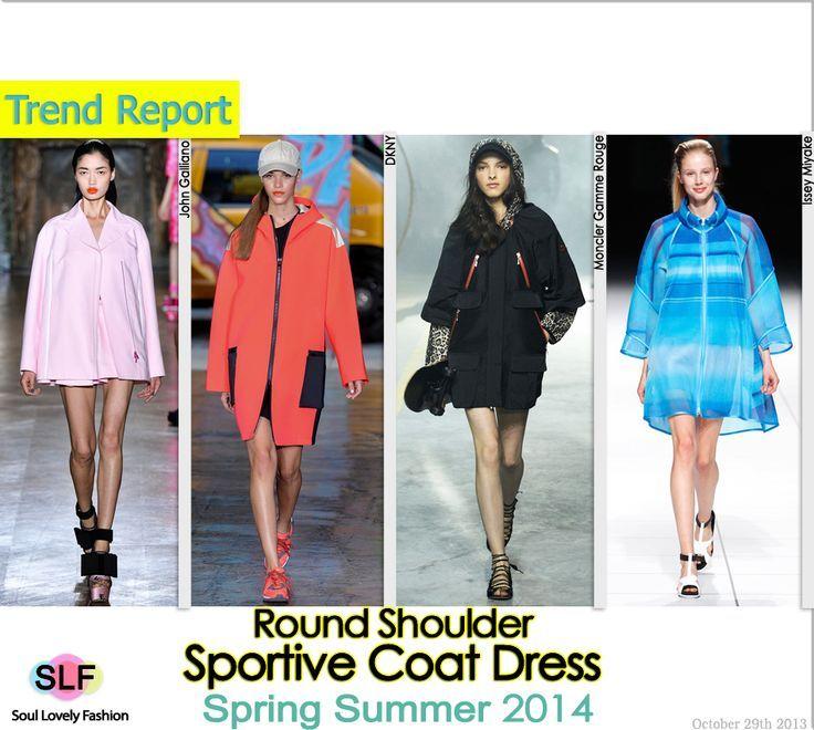 Round Shoulder Sportive Coat #Dress #Fashion Trend for Spring Summer 2014.  #sportive #spring2014 #trends #coat