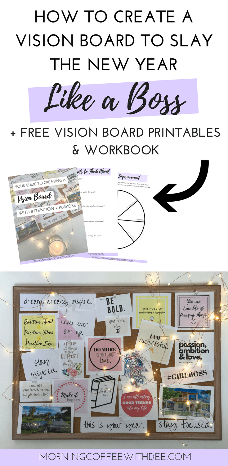 How to Create a Vision Board With Intention & Purpose + FREE ...